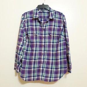 Chaps purple plaid lightweight flannel sz 2X